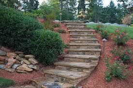 Steep Hill Backyard Ideas Walls Steps And Columns Photos Woodstock Roswell Alpharetta
