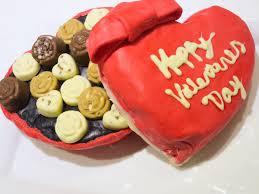 heart box of chocolates heart box of chocolate coffee cake baking in pink