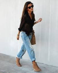 What To Wear With Light Jeans 45 Ripped Jeans Celebrity Street Style Ideas Lava360