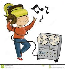 cartoon margarita cartoon listen music and dansing stock image image 23293151
