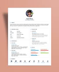 Resume Design Template Free Simple Resume Cv Design Template With Cover Letter Psd File
