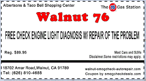 check engine light smog auto repair coupons free performance inspection