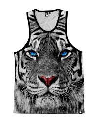 white tiger s all print tank top into the am
