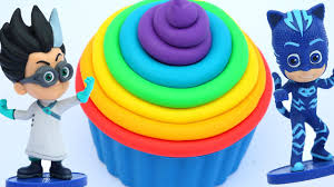 kinetic sand giant rainbow cupcake pj masks play doh surprise toys