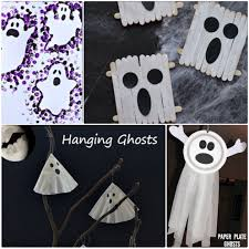 ghost crafts for kids to do at halloween our little house in the