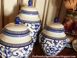 blue and white kitchen canisters 122 best kitchen canisters images on pinterest cooking ware home