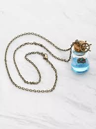 bottle necklace pendant images Drift bottle pendant necklacefor women romwe webp