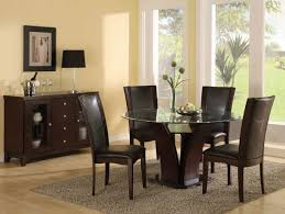 Modern Dining Table Designs 2013 Combination Of Wood And Glass On Round Dining Table In The Dining