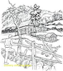 coloring pages for landscapes scenery coloring pages with beach scenery coloring pages landscape