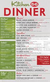 menu u2013 dinner u2013 kitchen 56