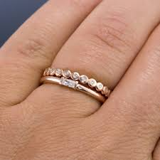 stackable diamond rings baguette diamond stacking promise or engagement ring