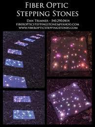 fiberopticsteppingstones com them on fiber optic stepping stones with led outdoor solar lightingbackyard