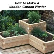 How To Make A Wooden Patio 10 Diy Outdoor Projects Wooden Garden Planters Garden Planters