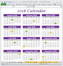 printable calendar year on one page 2018 calendar year in excel spreadsheet printable digital
