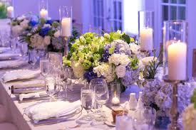 seaside island destination wedding with blue u0026amp white décor