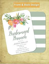 bridesmaids invitation bridal brunch printable bridal brunch customize to bridesmaids