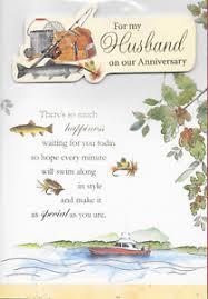 For My Husband On Our For My Husband On Our Anniversary Card 3d Fishing Loveley Verse