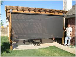 backyards wondrous slide wire canopy awning retractable shade
