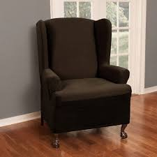 Stretch Wing Chair Slipcover Maytex Reeves Polyester Spandex Wing Chair Slipcover Walmart Com