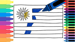 how to draw uruguay flag drawing the uruguayan flag coloring