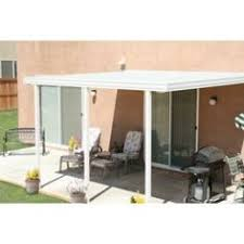 Home Depot Patio Covers Aluminum Solid White Vinyl Patio Cover Adds The Finishing Touches To This
