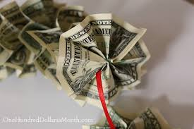 money leis graduation gift ideas money leis one hundred dollars a month