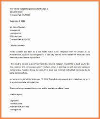 2 week notice letters resignation letter 2 week notice nurse