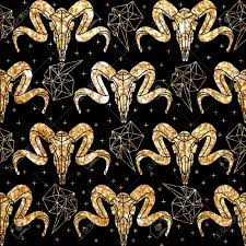 skull wrapping paper ethnic pattern style for textile fashion fabric wrapping paper