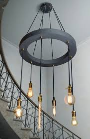 Chandelier Shapes Bare Edison Bulbs In Irregular Shapes Are Layered Asymmetrically