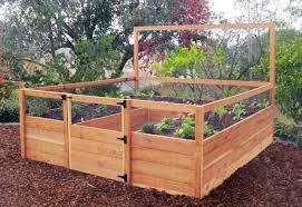 8 u0027x8 u0027 raised bed gated garden kit raised gardens raised garden