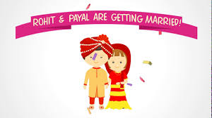 Indian Wedding Invite Indian Wedding Invitation Animation Video Save The Date Sent