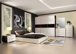 bedroom picture of black and white bedroom decoration using