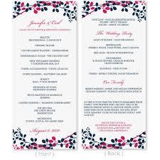 tea length wedding programs templates free 60 best ceremony images on wedding program templates