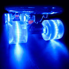 electric skateboard led lights colorful skateboards with battery free led wheels by sunset