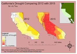 california map drought gis maps california s drought