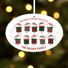 the best gift of all family presents oval ornament gift ideas