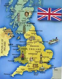 England On Map London Map England London On Map England