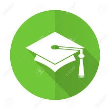 graduation sign education green flat icon graduation sign stock photo picture and