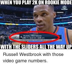 Westbrook Meme - oklahoma tonight russell westbrook 136 pts 112 rebs 118 asts o 6th