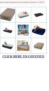 home trends raised air mattress with built in pump home trends