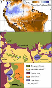 Amazon Basin Map Environmental Impact Of Geometric Earthwork Construction In Pre