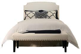 seahawk designs grosvenor upholstered headboard and bench set