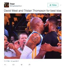 Personal Meme - david west and tristan thompson s kiss gets the meme treatment