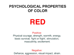 psychological effects of color psychological effects of the color red design decoration