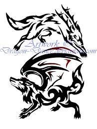 tribal yin and yang wolves commission by dansudragon on deviantart