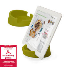 an ipad stand made for the demanding environment of the kitchen