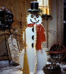 Outdoor Lighted Snowman Outdoor Christmas Decorations