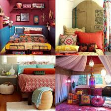 bohemian bedroom red pillow tarditional bed sample for clasic