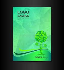 green eco cover design vector illustration book cover design stock