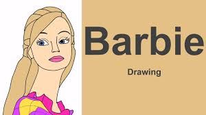 barbie drawing lear draw barbie princess